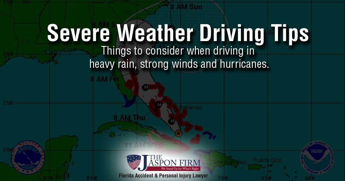 severe weather driving tips