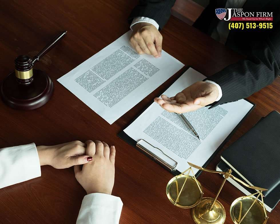 Photo of Attorney Client Meeting about Case