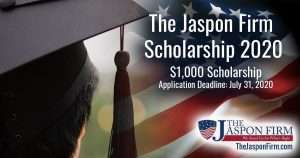 The Jaspon Firm Scholarship 2020