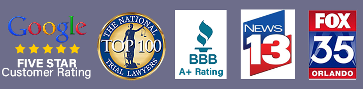 The National Trial Lawyers Top 100, Better Business Bureau A+, News 13 and Fox 35 Orlando Contributor